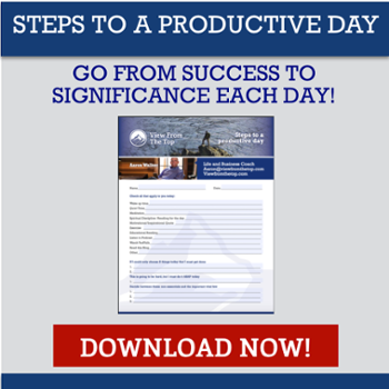 The Steps for Men to have a more productive day