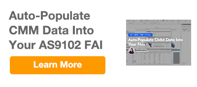 Import CMM Data to AS9102 FAI