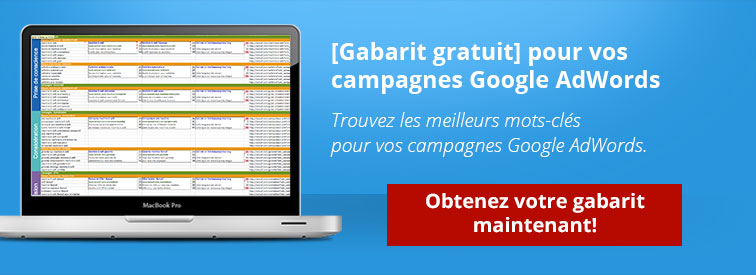 gabarit de campagnes google adwords