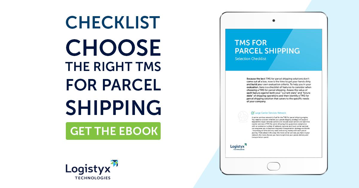 obtenir la liste de contrôle : choisir le bon tms pour l'envoi de colis