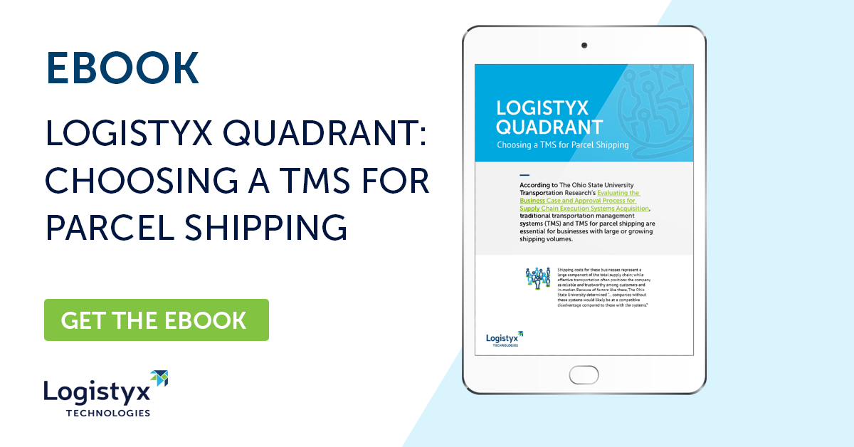ebook logistyx quadrant Choosing a TMS for Parcel Shipping