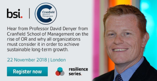 David Denyer Organizational Resilience event booking link