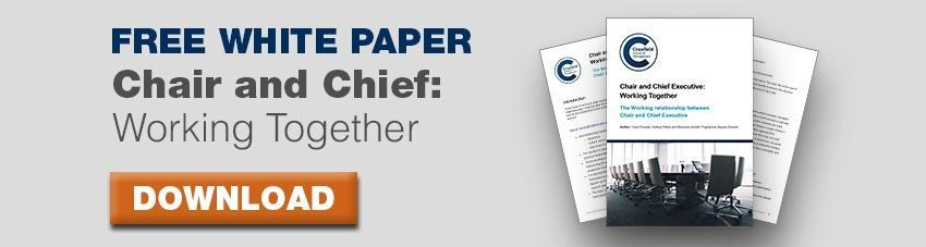 Chair and Chief Executive: Workign together - Download