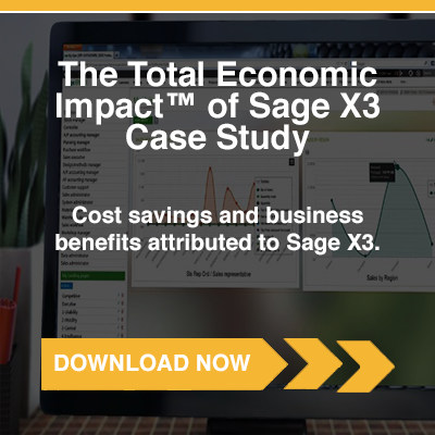 Case Study: The Total Economic Impact™ of Sage X3