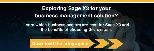 Sage X3 Infographic