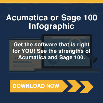 Acumatica or Sage 100 Infographic
