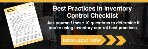 Best Practices in Inventory Control Checklist