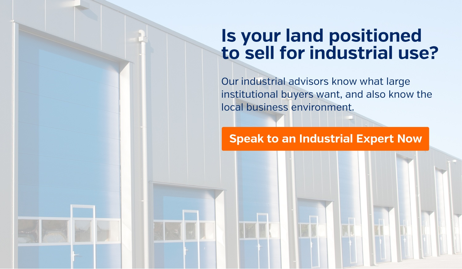 Graphic - Is your land positioned to sell for industrial use