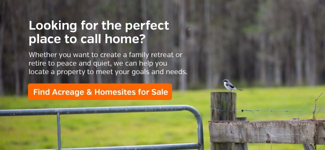 Find Acreage & Homesites for Sale