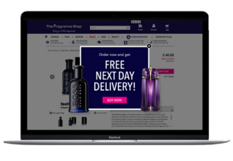 Fragrance Shop free delivery case study