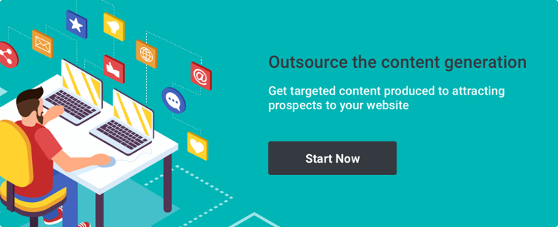 Outsource the content generation