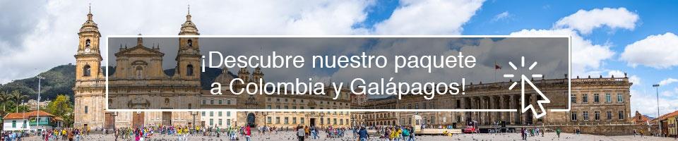 ¡Descubre nuestro paquete a Colombia y Galápagos!
