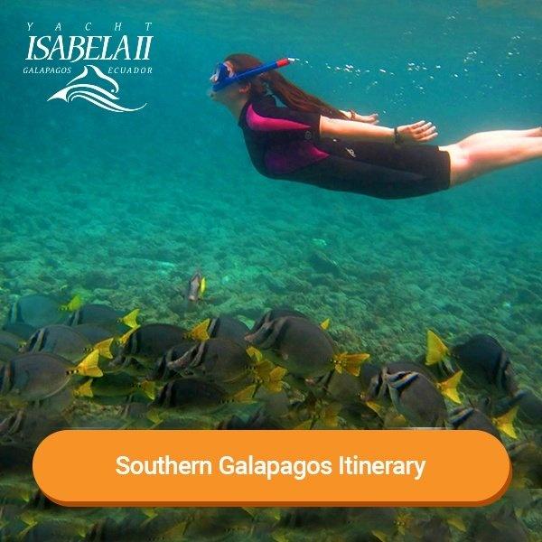 Southern Galapagos Itinerary - Yacht Isabella