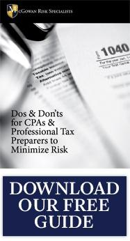 Dos and Don'ts for CPAs to Minimize Risk