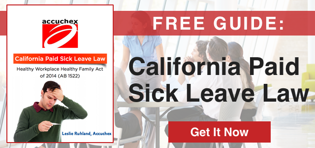 Free Guide: California Paid Sick Leave Law