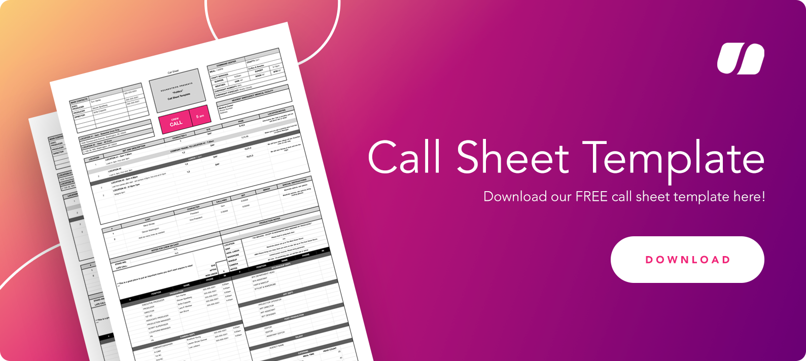 Call Sheet Template download