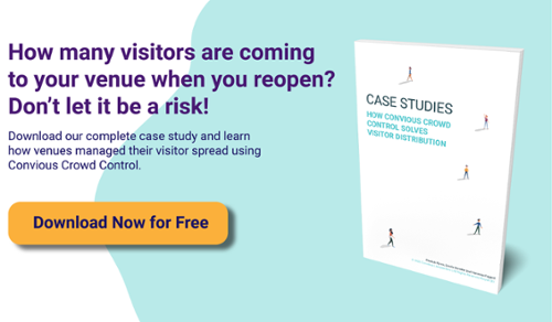 Download now our Case Studies and learn how Convious Crowd Control solved visitor distribution