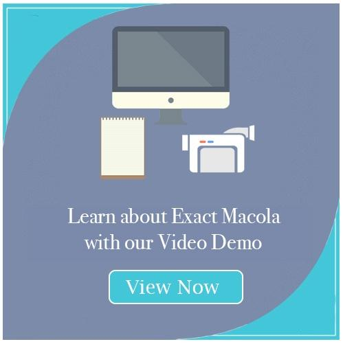 Exact Macola Video Demo CTA