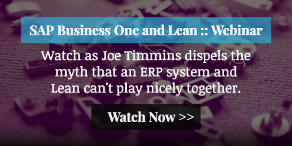 SAP Business One and Lean Webinar