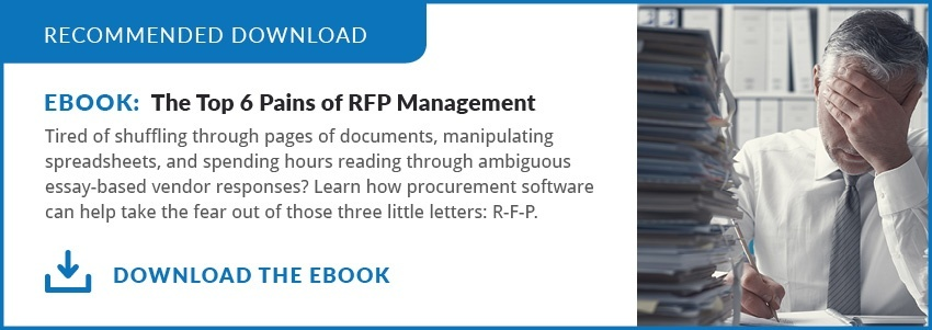 Download PDF: 6 Pains of RFP Management