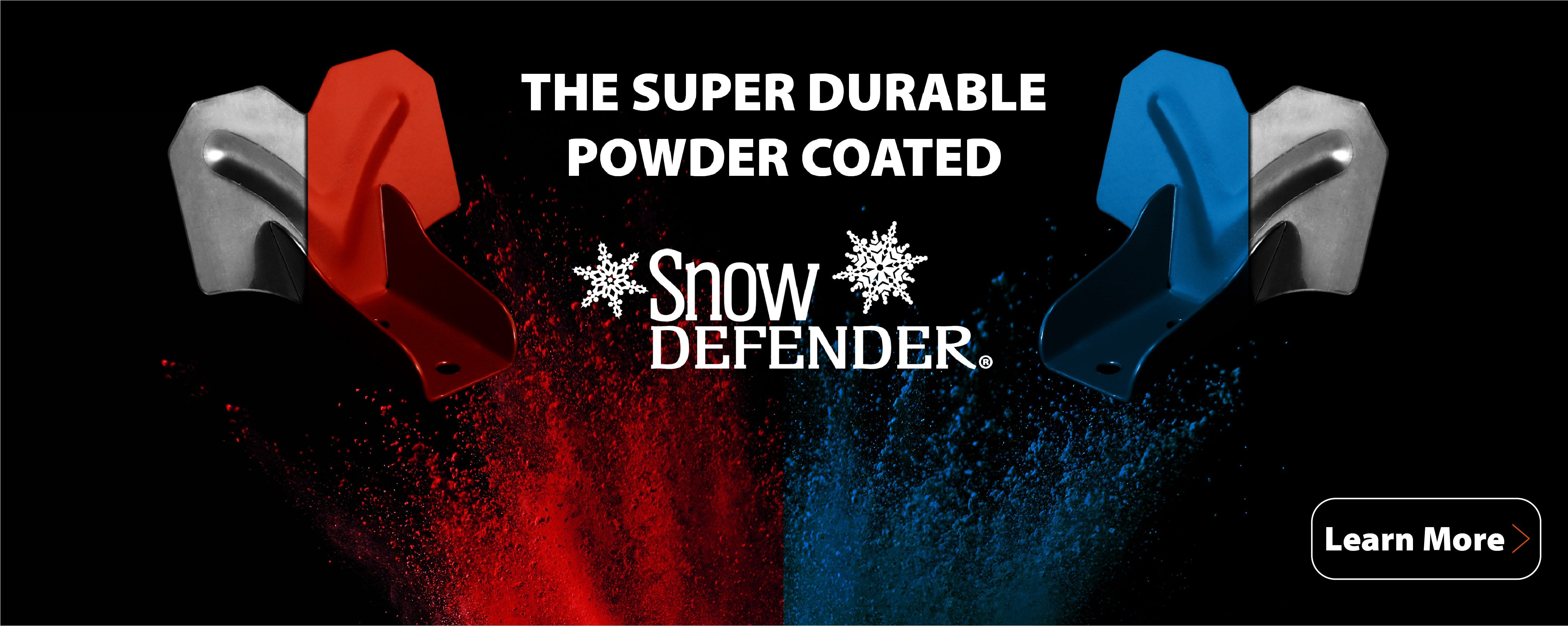 The super durable powder coated Snow Defender snow guards