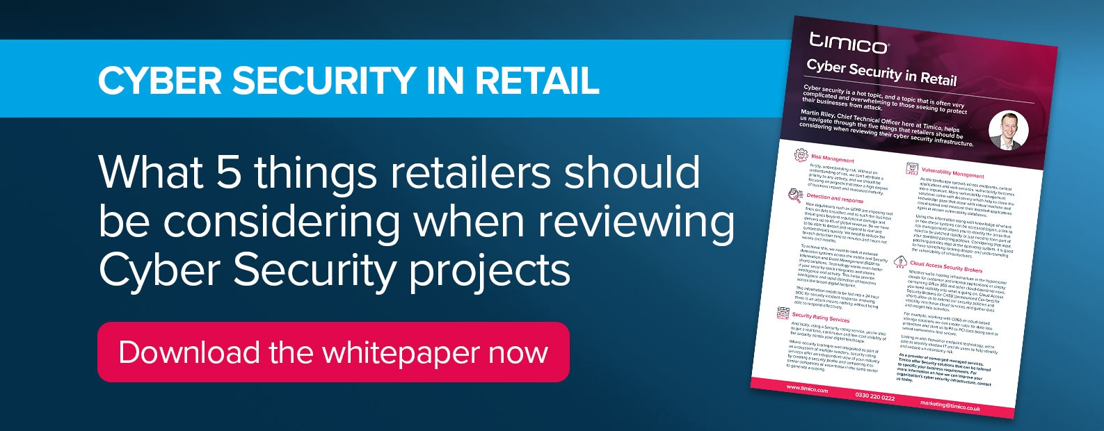 Download our Cyber Security for Retail whitepaper now