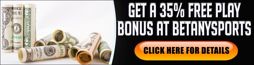 GET YOUR 35% BONUS AT BETANYSPORTS Get a 35% Bonus when you open your new  BetAnySports Account using promo code SPOOKY35. Click Here to Get Your  BetAnySports Bonus