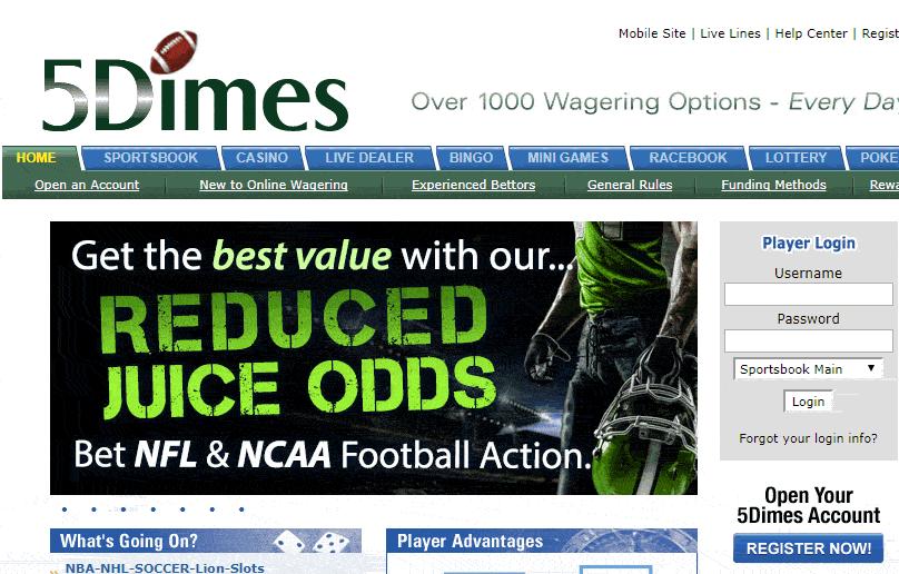 betting limits 5dimes bonus