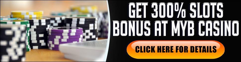 GET YOUR 100% or 200% BONUS AT MYB CASINO Get your 100% Table Game Bonus using  Promo Code SPOOKY 100 or 200% Slot Bonus Spins using SPOOKY200. Click Here For  Your MyB Casino Bonus