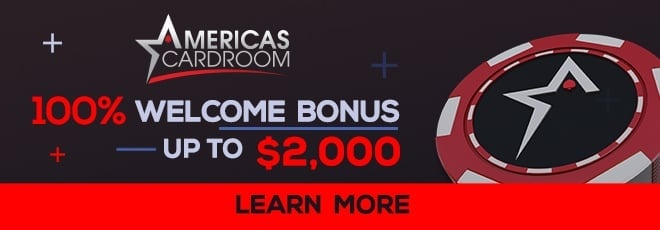 GET YOUR 100% BONUS AT AMERICA'S CARDROOM Get a 100% Bonus when you open your  new America's Cardroom Account using promo code SPOOKY. Click Here to Get Your  America's Cardroom Bonus