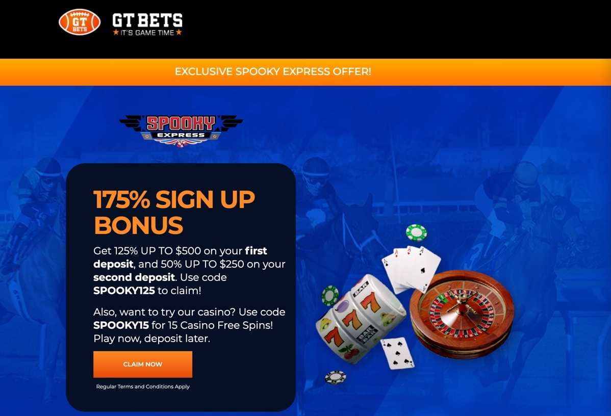 Click Here to Receive Your GTbets 100% Cash Bonus! Only with