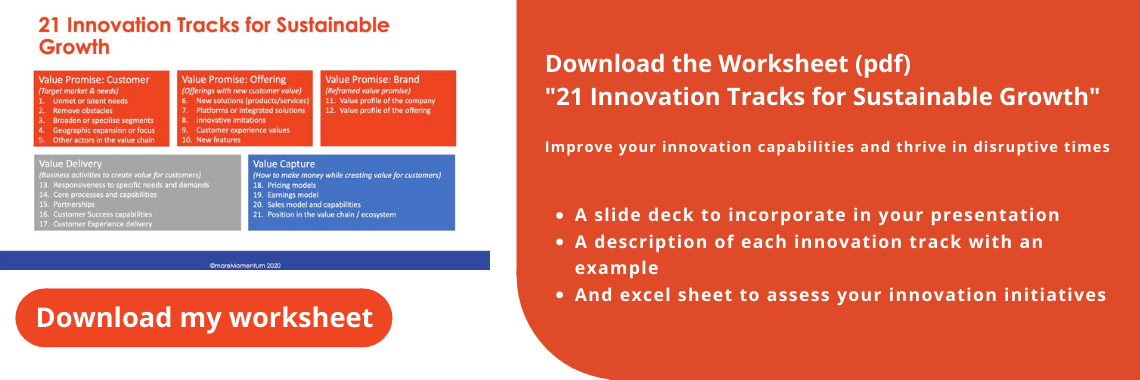 Worksheet: 21 innovation tracks for sustainable growth