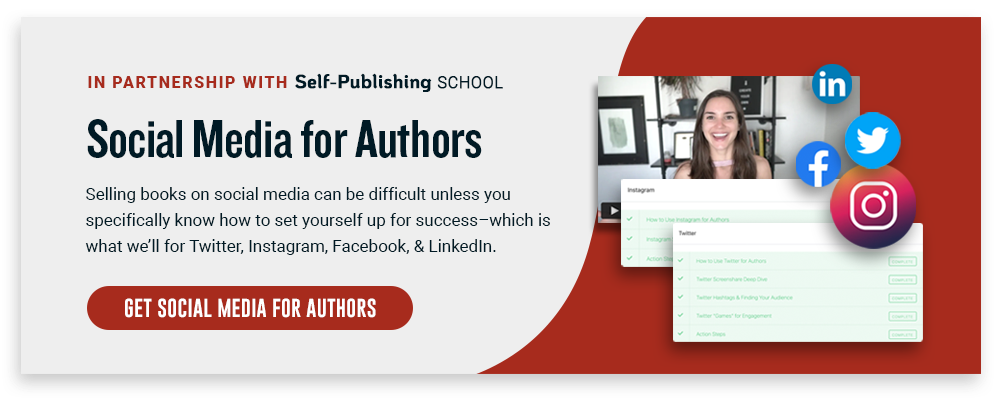 social media for authors cta
