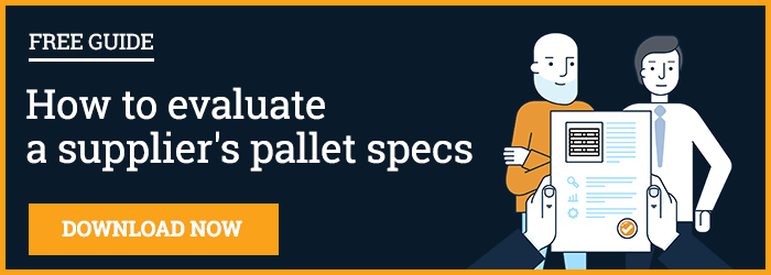 How to evaluate a supplier's pallet specs