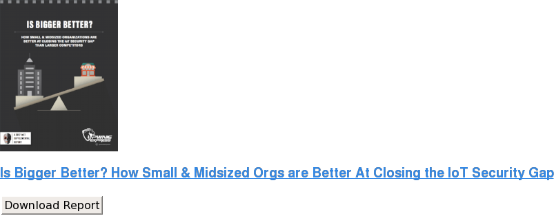 Is Bigger Better? How Small & Midsized Orgs are Better At Closing the IoT  Security Gap Download Report