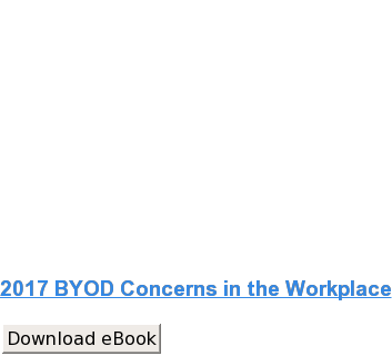 2017 BYOD Concerns in the Workplace Download eBook