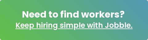Need to find workers? Keep hiring simple with Jobble.