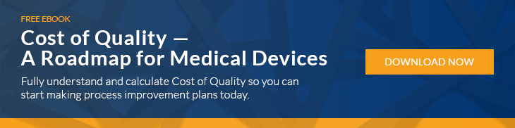 Cost of Quality Medical Device Manufacturing