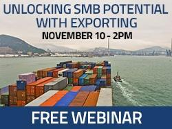 Free Exporting Webinar. Tuesday, October 4. Register Today!
