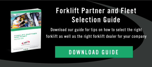 ABT Forklift Fleet and Forklift Partner Selection Guide