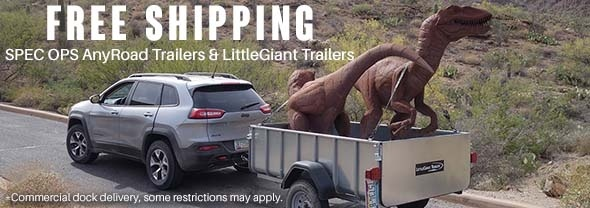 Free Shipping for SPEC OPS & LittleGiant Trailers