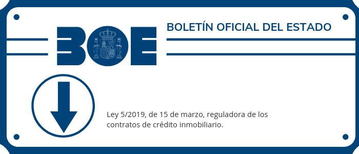 Descargar BOE Nueva Ley Hipotecaria