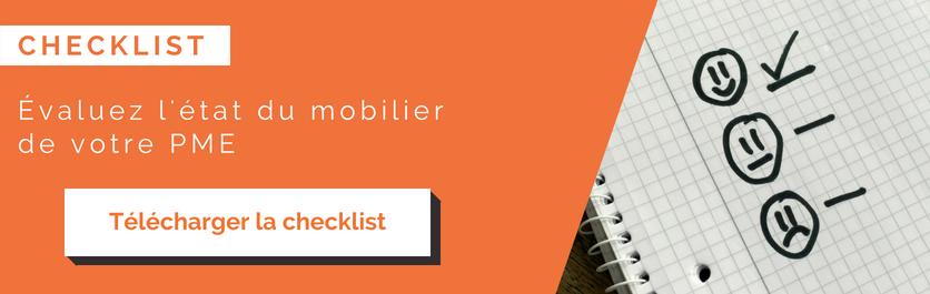 Télécharger la checklist pour évaluer l'état du mobilier de votre PME