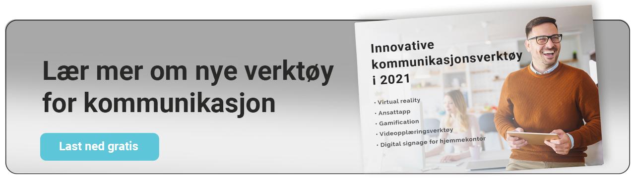 e-bok innovative kommunikasjonsverktøy i 2021