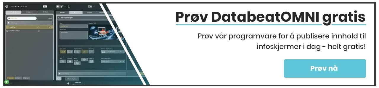 Prøv DatabeatOMNI gratis i dag knapp