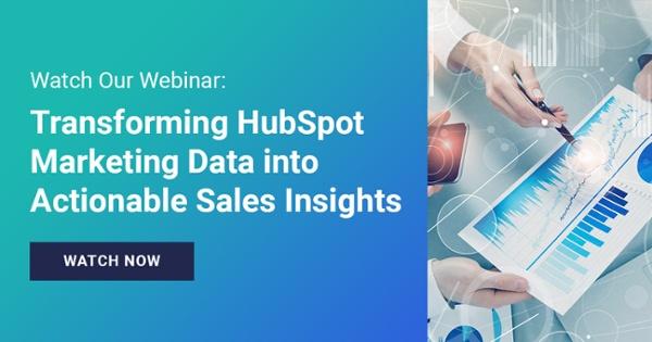 Recorded Webinar Transforming Marketing Data Into Sales Insights