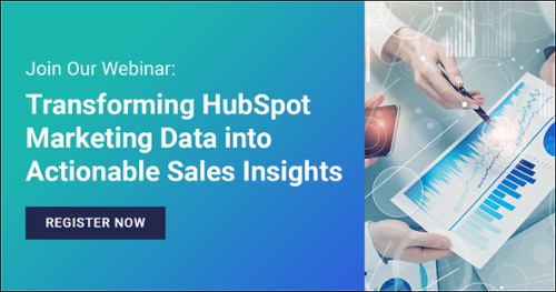 """Register for our upcoming webinar: """"Transform Marketing Data Into Sales Insights"""""""