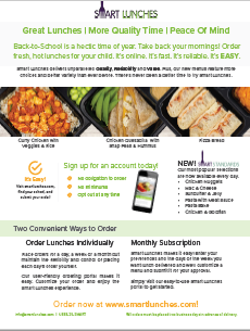 How To Order Smart Lunches Brochure