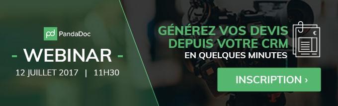Webinar - Générez vos devis depuis votre CRM