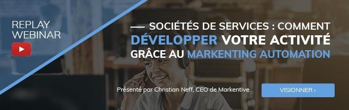 Webinar Société de service : développer activité avec le marketing automation